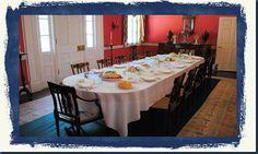 October 14, 2016 - The Mansion giant table..blennerhassett-island-historical-