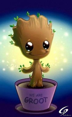 Грут - cute looking little starry alien