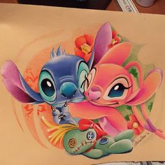love hug art pencil on Instagram Disney Stitch Tattoo, Disney Tattoos, Disney Sleeve Tattoos, Disney Stich, Cartoon Kunst, Cartoon Drawings, Cartoon Art, Cute Disney Drawings, Cool Art Drawings