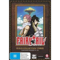 Fairy Tail Guild - Collection 3 DVD. Contains episodes 97-142.