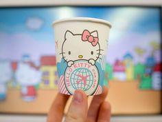 Hello Kitty cups from EVA Air's Hello Kitty flights.