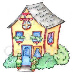 Whimsical Yellow House