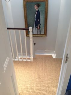 sisal carpet stairs Stairs & Landingsisal carpet stairs are the most frequent place in the house to own carpet, and yet they are also the trickiest. Choosing carpet for the stairs can be quite a bit harder than choosing carpet for ot Basement Carpet, Hall Carpet, Carpet Stairs, New Carpet, Cheap Carpet, Hallway Decorating, Entryway Decor, Sisal Stair Runner, Landing Decor