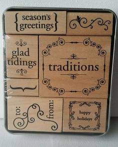 Christmas Holidays Rubber Stamps Set from Paper Studio #PaperStudio