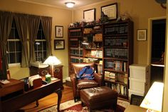 Man Cave Store Salisbury Nc : Multi purpose outdoorsman man cave with office and library