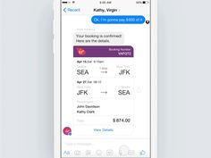Amazing Chat Interface Inspiration: Messenger Bots & Partial payment Concept by Isil Uzum