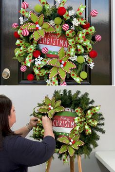 Ribbon is a great and inexpensive way to add color and texture to your door wreath. You can add ribbon in various ways by making a bow, but in this tutorial I taught to add streamers for added interest. Learn to wreath like a pro by Southern Charm Wreaths