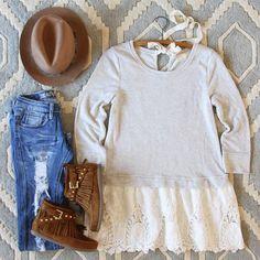 Fall Tale Lace Sweatshirt, Cozy Lace Sweatshirts from Spool No.72. | Spool No.72