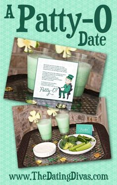 What a quick and easy St. Patty's date.  I can throw this together in no time.