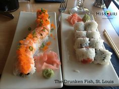 Are you a sushi fanatic? Then you HAVE to try the Drunken Fish in St. Louis! (or there is also one in KC.)