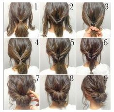 Cute Hairstyles For Medium Hair, Up Dos For Medium Hair, Work Hairstyles, Trendy Hairstyles, Braided Hairstyles, Wedding Hairstyles, Hairstyle Ideas, Hair Ideas, Bangs Hairstyle