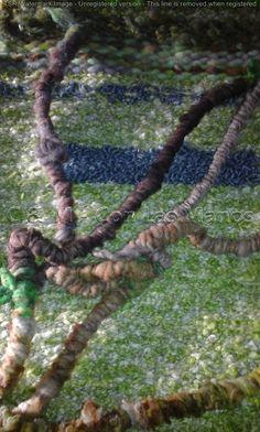 Telar en Fibras Naturales realizado en técnicas mixtas