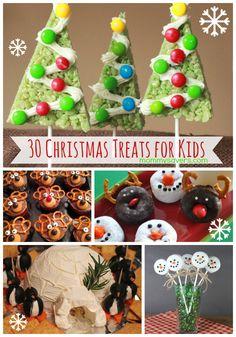 Christmast Treats for Kids - 30 Fun Ideas to Bake and Share via Mommysavers.com #christmastreats #christmastreatsforkids