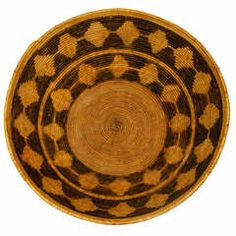 Mission Indian Basket Tray circa 1900
