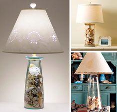 Decorazione con le conchiglie: lampade creative