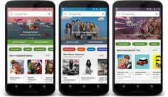 Google Play poderá receber brevemente um novo design