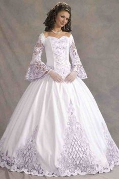 white corset dress fairy tale wedding gown, can be broken down ...