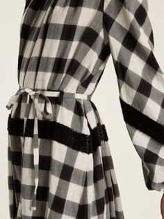 Click here to buy Tibi Tie-waist checked cotton-blend dress at MATCHESFASHION.COM