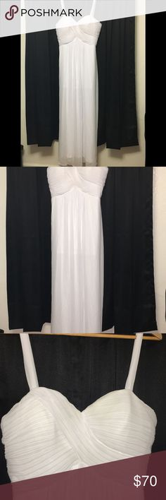 Long white chiffon evening gown Pretty never worn white chiffon dress.  Got it for my vow renewal but ended up finding something more me. Starzz Dresses Wedding