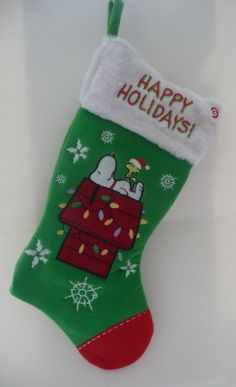 KSA Pack of 6 Peanuts Charlie Brown and Snoopy Christmas Stockings ...