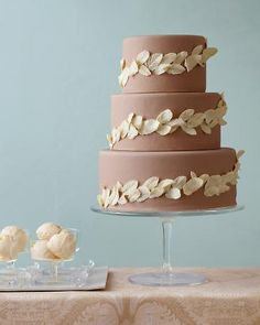 What a wedding cake - chocolate layers with mint buttercream