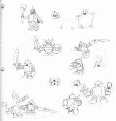 robot doodles!~~~~lets draw
