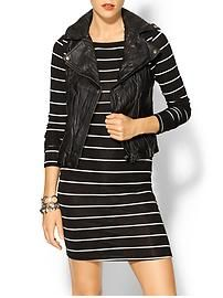 Leather Vest with Stipes
