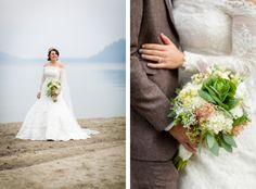 Vintage chic wedding on Donner Lake by Eric Asistin Photography and Summit Soiree. Lake Tahoe wedding.