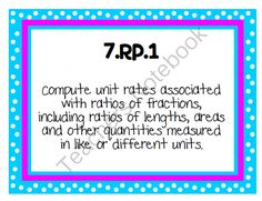 7th Grade Math Common Core Standard Posters from KlaRenays Shop on TeachersNotebook.com (48 pages)