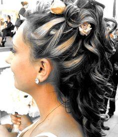 Wedding Updos for Medium Length Hair with Headpiece | Cute half updos for medium length hair pictures 4