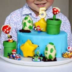 Mario bros birthday cake idea.