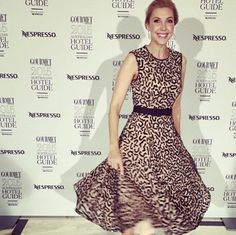 Catriona Rowntree looking amazing at the Gourmet Traveller 2015 Hotel Guide and Travel Awards wearing Rachel Gilbert SS15 Kolby Dress in Black