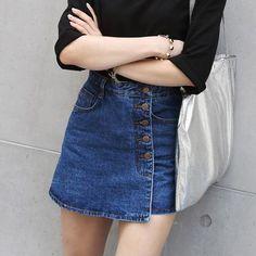 High Waisted Denim Shorts For Women 2016 Summer Skorts Skirts Slim Blue Short…