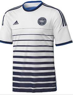 Camisa da Seleção da Dinamarca 2014-2016 Adidas