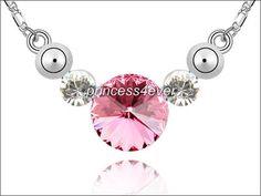 $9 7 Carat Pink Stone Necklace Swarovski Crystal