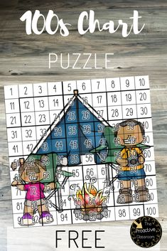 Try out this fun number sense activity with a free Hundreds Chart Puzzle printable! First Grade Activities, Educational Activities For Kids, First Grade Math, Counting Activities, Second Grade, Math For Kids, Fun Math, Kindergarten Math, Teaching Math