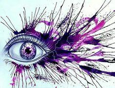 Digital Watercolor Drawing of Eyes by Ryky Art Sketches, Art Drawings, Drawing Art, Eyes Artwork, Art Vintage, Eye Painting, Crayon Art, Watercolor Drawing, Eye Art