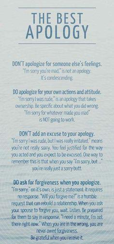 Real apologies, gottman institute, TGI