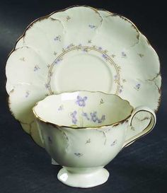 Mikasa Tender Violets Footed Cup & Saucer Set