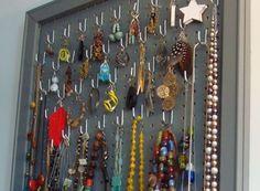 Jewelry storage idea.