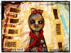 mixed media sewing piece