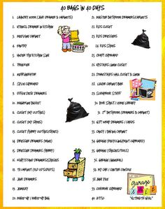 print this list if you don't want to make up your own :)