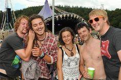 People enjoying Somersault festival on Saturday.