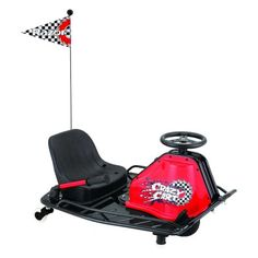 Razor® Crazy Cart Ride-On Electric Cart Black/Medium Red - Motorized Wheel Goods at Academy Sports Electric Trike, Electric Power, Go Kart, Razor Dune Buggy, Sports Games For Kids, Shops, 3rd Wheel, Ride On Toys, Outdoor Toys