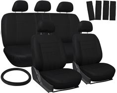 Nice Awesome Car Seat Covers Black 17pc Full Set for Auto w/Steering Wheel/Belt Pad/Head Rest 2017 2018 Check more at http://24car.gq/my-desires/awesome-car-seat-covers-black-17pc-full-set-for-auto-wsteering-wheelbelt-padhead-rest-2017-2018/