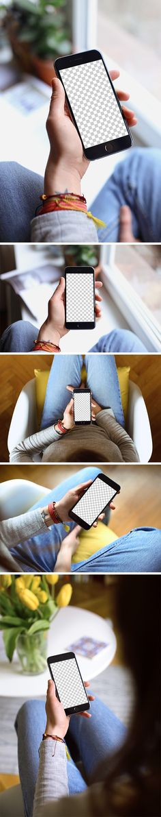 This time I present to you 5 free iPhone 6 mockups created by Mockuuups and distributed by GraphicBurger. The mock-ups are represented by people holding an iPhone 6 in their hands, from different a…