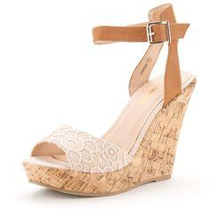 DREAM PAIRS CHERISH Women s Fashion Outdoor Ankle Strap Peep Toe Cork  Platform… 16d8795323