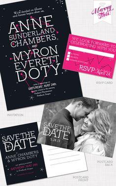 Constellation Wedding Invitation Suite