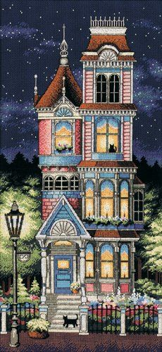 Amazon.com: Dimensions Needlecrafts Counted Cross Stitch, Victorian Charm