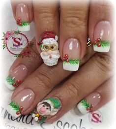 Holiday Nails, Christmas Nails, Christmas Nail Designs, Winter Nails, Acrylic Nails, Nail Art, Nails Design, Claws, 3d
